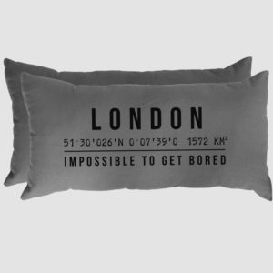 ALMOHADON GPS LONDON 70 X 30 CM